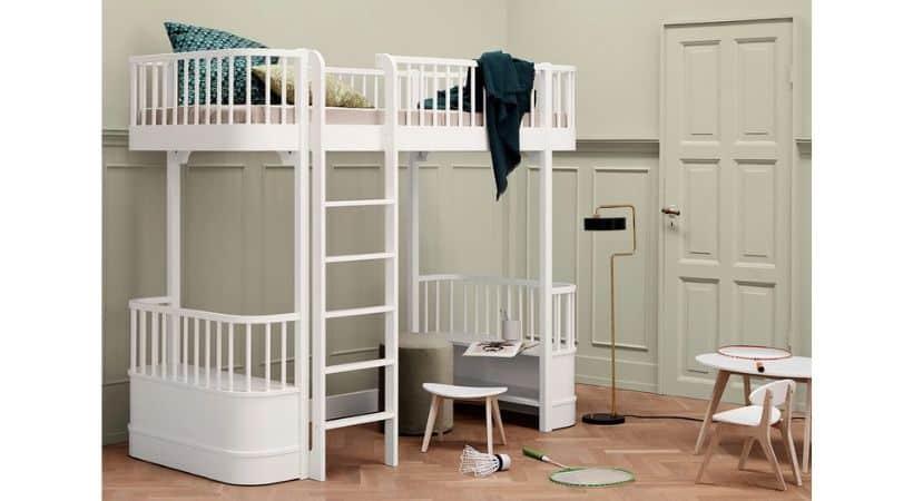 Oliver Furniture Wood højseng – Hvid