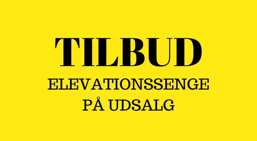 Elevationssenge på tilbud