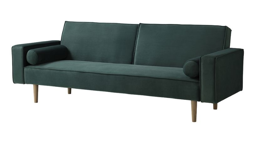 Velour sovesofa