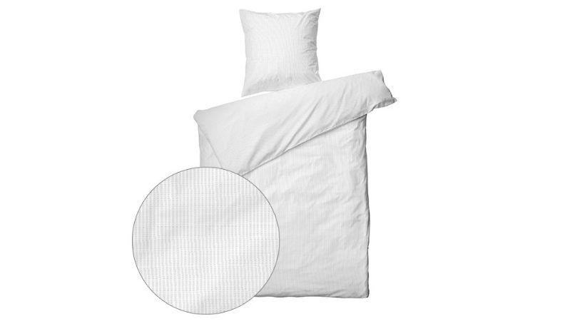 Hvidt Krepp sengetøj