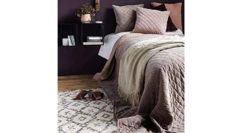 Velour sengetæppe