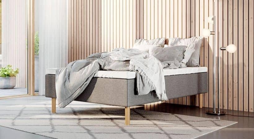 Latex 140x200 - Grå boxmadras