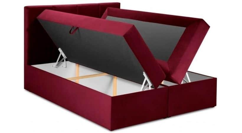Mimicry - Rød 180x200 kontinentalseng med opbevaring