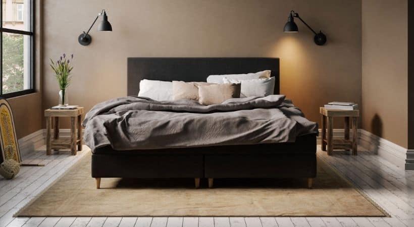Jupiter Wood - Billig sort 160x200 cm seng