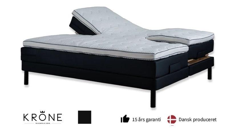 Krone Elevation Plus - 160x200 seng med valgfri topmadras