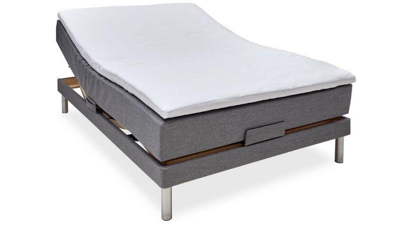 Nocturne Silver - 120x200 cm elevationsseng med pocketfjedre