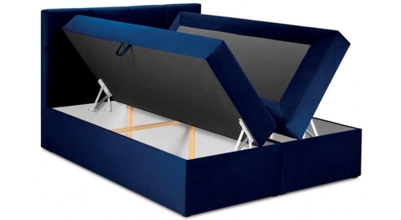 Mimicry - Blå 180x200 kontinentalseng med opbevaring